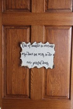 It's easy to let your Harry Potter party guests know wich rooms are off limits!