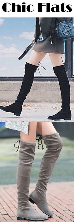 Time to put away all the heels, and find a pair of flat boots~ Our feet also need to enjoy a cosy holiday and stay chic as always *.*!