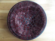 Beautiful-multiple-color-hand-painted-Balinese-mosaic-glass-tray-plate-dish