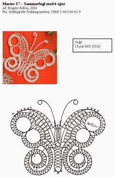 vlinder Bobbin Lace Patterns, Tatting Patterns, Embroidery Patterns, Crochet Cactus, Crochet Lace, Bobbin Lacemaking, Lace Heart, Point Lace, Lace Jewelry