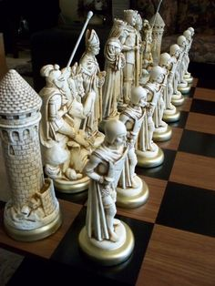 """MEDIEVAL Chess Set"" It figuratively shines on the other chess sets..."