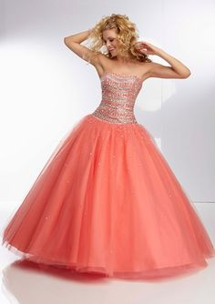95014 Jewel Beaded Bodice on Tulle Ball Gown Skirt Available @ BOOM BABIES - 489 Westcott St Syracuse.  www.boombabies.biz