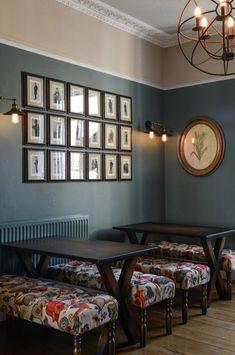 Pub Interior, Restaurant Interior Design, Interior Ideas, Vintage Restaurant, Modern Restaurant, Pub Decor, Home Decor, Cafe Seating, Pub Design