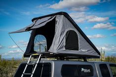 Set up camp in 30 seconds! Pop the rear end up, pull out the ladder and you're done! Be ready for adventure anywhere, anytime, with WildLand Rooftop Tents! Check it out! #CampingTents