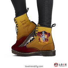 Harry Potter House Crest Suede Boots!♥ Get this pair from LoveTrendify.com - Enter Code ALOHOMORA for 8% off the Harry Potter Collection at LoveTrendify.com