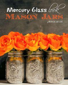 Mercury Glass Mason Jar (a project from Mason Jar Crafts Love)