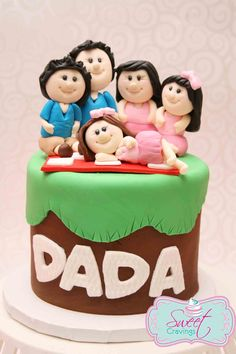 Family Fondant Cake Fathers Day Balloon Let Them Eat How