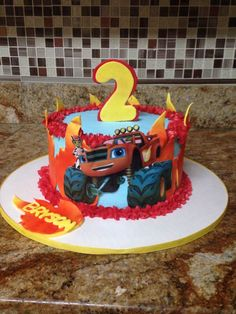 Blaze And The Monster Machines Cake Ideas Blaze And The Monster Machines Cake Ideas<br> Blaze Birthday Cake, 4th Birthday Cakes, 3rd Birthday Parties, Boy Birthday, Birthday Ideas, Torta Blaze, Blaze Cakes, Monster Truck Birthday, Monster Trucks