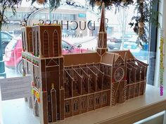 Notre dame replica - cool gingerbread houses buildings churches