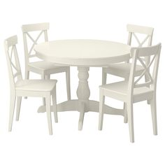 Ingatorp Ingolf (IKEA Table And 4 Chairs) ( Furniture > Dining Furniture > Dining Table Chair > Dining Sets ) #79400665