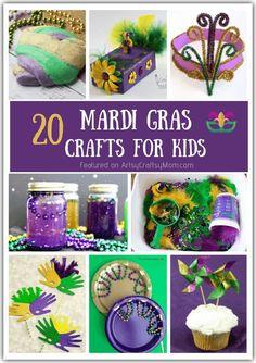 Mardi Gras Hats, Mardi Gras Food, Mardi Gras Costumes, Mardi Gras Party Theme, Mardi Gras Centerpieces, Mardi Gras Decorations, Paper Crafts For Kids, Crafts For Teens, Fun Crafts