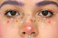 Image about art in nails&eyes by Mitzi Perez on We Heart It Aesthetic Makeup art Heart Image Mitzi n Makeup Goals, Makeup Inspo, Makeup Inspiration, Beauty Makeup, Hair Makeup, Makeup Hacks, Makeup Tips, Teen Makeup, Makeup Eyeshadow