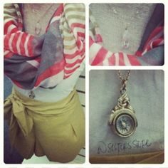 Such a cute outfit! For girls who still love to wear scarves in the spring/summer!