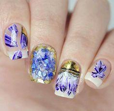 Beautiful Amethyst Nails