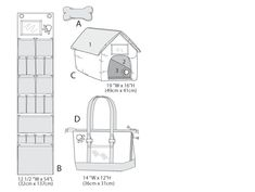 B5867 | Toy, Organizer, House, Mat and Carry Bag | Crafts/Dolls/Pets | Butterick Patterns