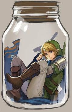 Link in a bottle! | #Fairy #HyruleWarriors #WiiU