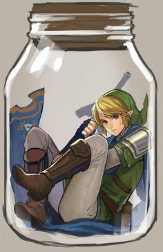 Link in a bottle! | #Fairy #HyruleWarriors #WiiU