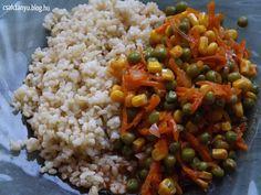Zöldségpörkölt bulgurral Vegán