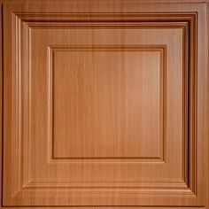 Signature 2 ft. x 2 ft. Lay-In Coffered Ceiling Tile in Faux Wood-Caramel