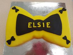 This is the cake i made for my daughters birthday. It us the bow that Emma Wiggle has in the Wiggles it is mud cake with fondant. Wiggles Birthday, Wiggles Party, Girls 3rd Birthday, Navy Birthday, 4th Birthday Parties, Happy Birthday Banners, Birthday Fun, Birthday Party Decorations, Birthday Ideas