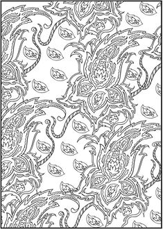 Welcome to Dover Publications  3-D Coloring Book--Paisley Designs