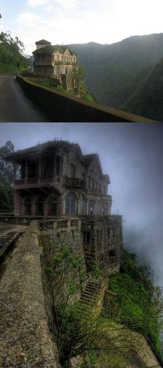 This would be so creepy to spend a  night in this abandoned hotel in Columbia! Yikes!!!