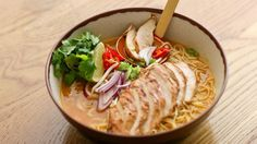 A delicious and filling main from Japan with a meat broth, special noodles and toppings of your choice Ramen Recipes, Asian Recipes, Gourmet Recipes, New Recipes, Chicken Recipes, Cooking Recipes, Healthy Recipes, Ethnic Recipes, Chinese Recipes