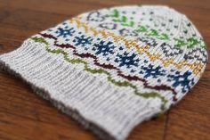 """Wade"" hat knitting pattern by Amy Miller.  Fingering weight yarn."