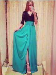 Delightful V Neck Chiffon Assorted Color Maxi-dress