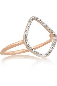 Monica Vinader   Riva rose gold-plated diamond ring   NET-A-PORTER.COM