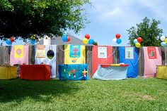 Super ideas for a backyard carnival for kiddos - complete instructions and tips here