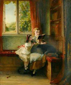 Reading and Art: Spell-bound, 1879  George Bernard O'Neill