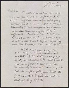Citation: Mark Rothko letter to Lee Krasner, 1956 Aug. 16. Jackson Pollock and Lee Krasner papers, Archives of American Art, Smithsonian Institution.