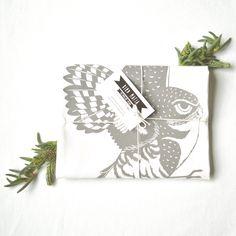 burrowing owl flour sack towel, 100% cotton, hand-printed, twilight purple by birdmafia on Etsy https://www.etsy.com/listing/262931482/burrowing-owl-flour-sack-towel-100