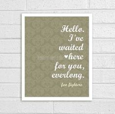 Foo! Everlong. ❤ One of my faves.