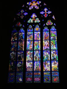 Stained glass window by Alphonse Mucha, St Vitas Cathedral, Prague