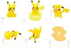 New! Pikachu Mini Figure All 6 Set Yellow Pokemon PUTITTO Japan F/S #PUTITTO