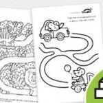 Bonitas hojas de actividades para niñ@S de 3 y 4 años. Sólo imprimir y listo