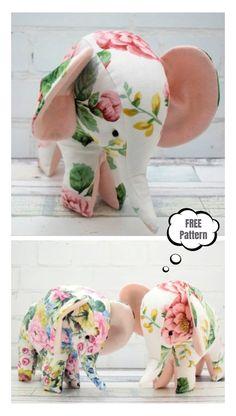 Animal Sewing Patterns, Stuffed Animal Patterns, Sewing Patterns Free, Free Sewing, Free Pattern, Pattern Sewing, Stuffed Animals, Tutorial Sewing, Stuffed Toys