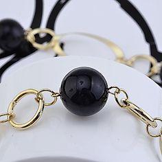Collar de la aleación conectado bolas (colores surtidos)