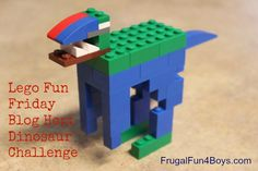 Lego Fun Friday Blog Hop - Dinosaur Building Challenge!