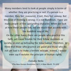 #NHR1 #Newworld #attitude #members #non-practitioners #Buddhism Eastern Philosophy, Life Philosophy, Ikeda Quotes, Teaching Mindfulness, Buddhist Practices, Buddhist Teachings, Buddha Buddhism, Life Coaching, Spiritual Growth