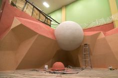 MD Climbing Gym Climbing wall construction Love the giant ball Rock Climbing Training, Rock Climbing Gym, Climbing Holds, Gym Architecture, Architecture Details, Indoor Climbing Wall, Bouldering Wall, Small Sitting Areas, Wall Design