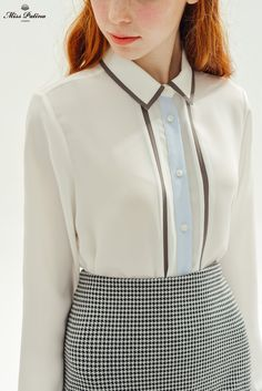 Piccadilly Shirt (White) - Miss Patina - Vintage Inspired Fashion