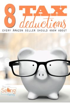 8 Tax Deductions Every Amazon Seller Should Know About.  Don't miss out on great tax savings this year.
