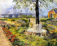 The Athenaeum - Garden in Neu-Cladow (Max Slevogt - )