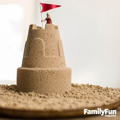 Build a Sand Castle -- Anywhere: Constructing fanciful structures on the shore is a rite of the season. Not planning a trip to the beach? Make homemade sculpting sand that can be packed and molded into sand castles anywhere. #FamilyFunMagDay