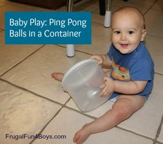 baby play ping pong balls - great for tracking, stimulating the sense of hearing, and more!
