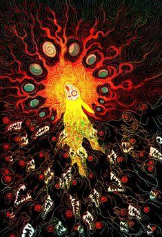Arte Horror, Horror Art, Dark Fantasy Art, Dark Art, Watership Down, 8bit Art, Berserk, Psychedelic Art, Art Plastique
