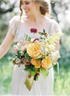 REVEL: Romantic Marigold Wedding Bouquet